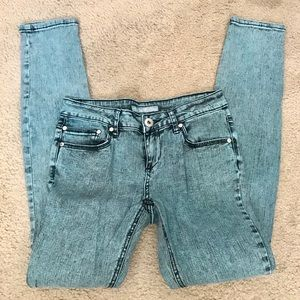 Vanilla Star teal acid washed jeans.